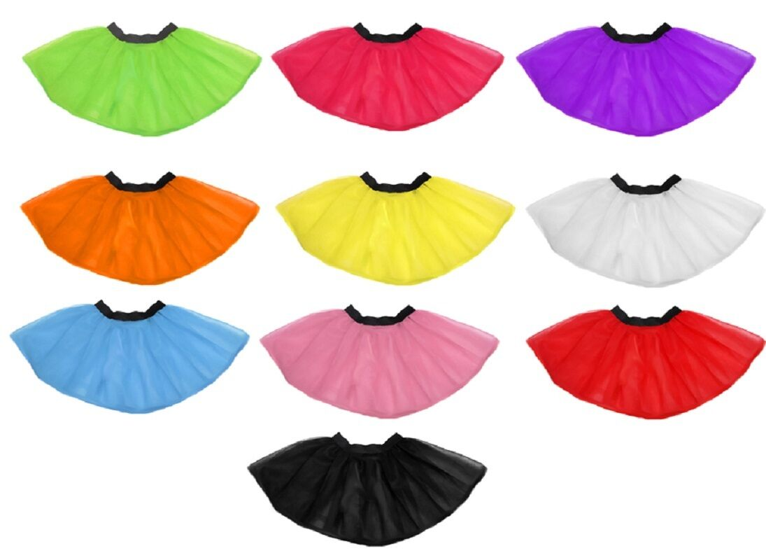 Neon Pink Tutu Skirt charity fun run i love 80s Fancy Dress SPARKLE HEN PARTY UV