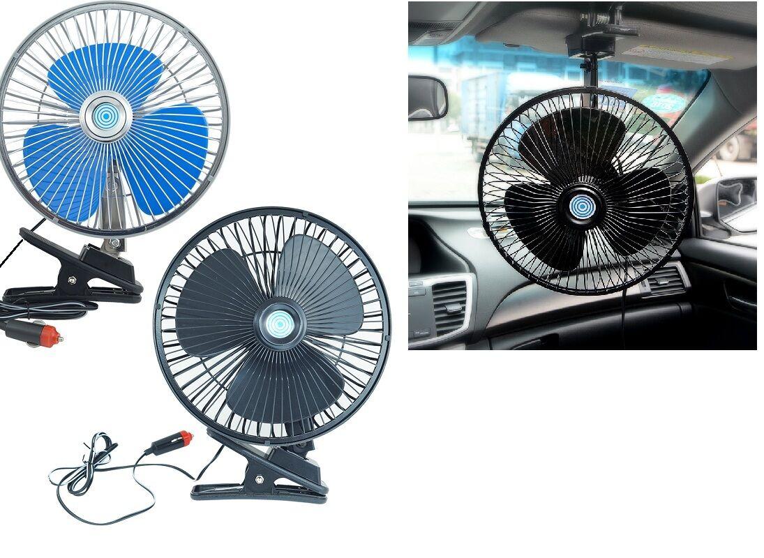 Ventilatore Portatile Da Viaggio Per Auto Camper Camion 12 Volt Diam 18 cm