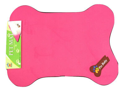 Pet Bed Cage Mat Pad Dog Colorful Antibacterial Bone Shaped Sleeper Pink 25x19