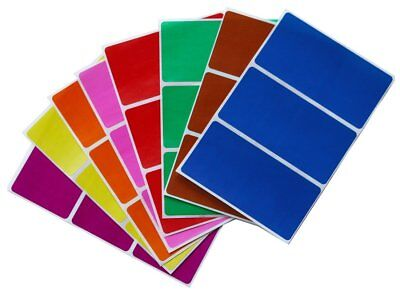 Rectangle Name Tags - Rectangular Moving Name Tags Color Coding Stickers 8 Assorted Colors 24 Pack