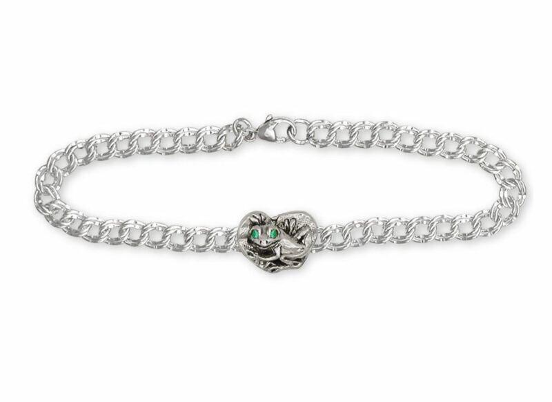 Frog Bracelet Jewelry Sterling Silver Handmade Frog Bracelet FG15-XB