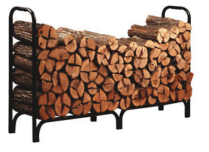 Panacea 8' Outdoor Steel Firewood Log Rack Holder 96