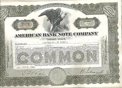 American Bank Note Co., 1940er, braun