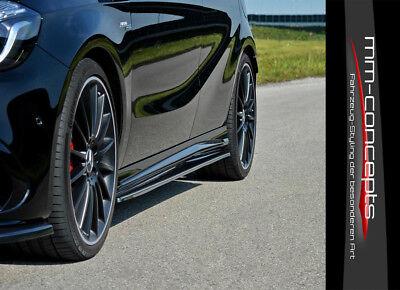 CUP Seitenschweller Ansätze für Mercedes A Klasse W176 AMG Side Skirts Leisten