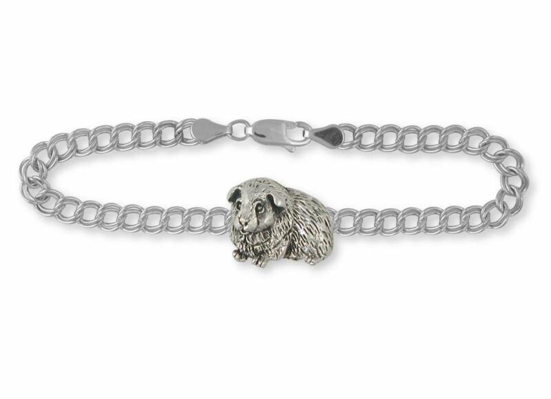 Guinea Pig Bracelet Jewelry Sterling Silver Handmade Piggie Bracelet GP8-B