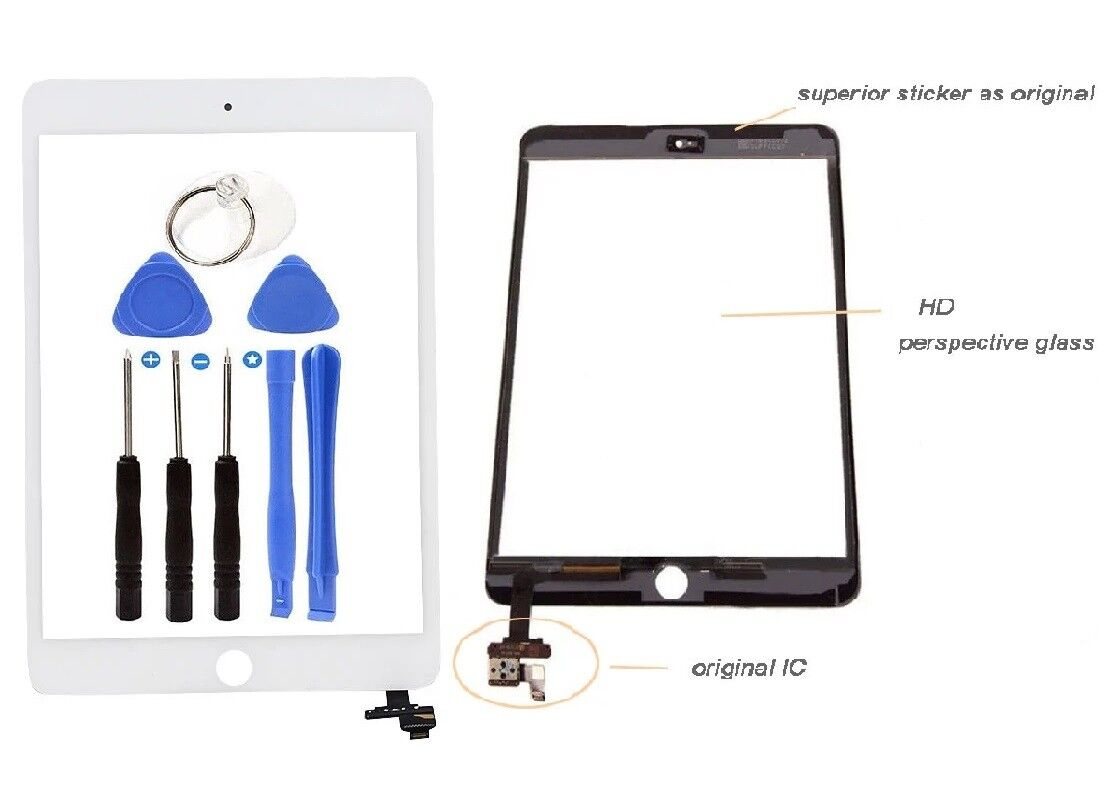 Screen Digitizer Replacement Glass Touch For iPad Mini 3 A1599  A1600 White Computers/Tablets & Networking
