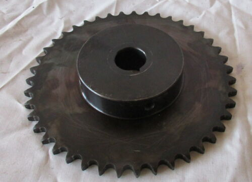 """40B4S43H-1 Chain Hub 6"""" Sprocket 43 Teeth 1"""" inch bore used very good Condition"""