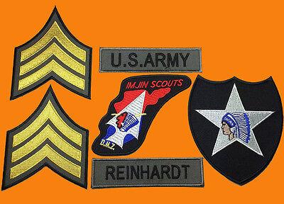 JOHN LENNON BEATLES ARMY KOREA WAR IMJIN  6PC HOOK ARMY PATCH
