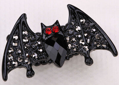 Black Bat stretch ring halloween party Decor jewelry gifts for women daughters ](Bat For Halloween)