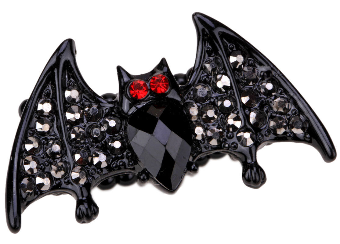 Bat stretch ring halloween jewelry accessory gifts for women