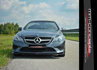 CUP Spoilerlippe CARBON Mercedes E-Klasse W212 Facelift Front Schwert Ansatz AMG