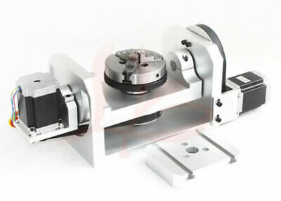 Cnc Router Machine Rotary Indexer Table 4th 5th Rotational Axis W Chuck