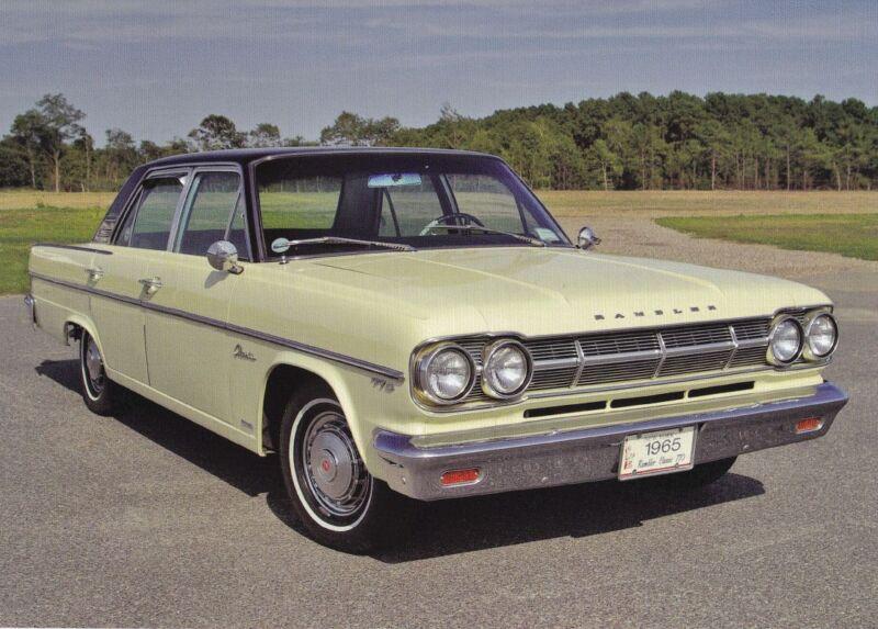 1965 RAMBLER CLASSIC 770 ~ 28,603 WERE PRODUCED ~ CALENDAR PHOTO / PICTURE / AD