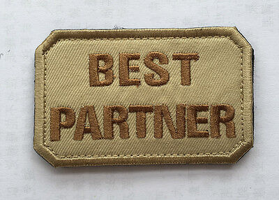 BEST PARTNER ARMY TACTICAL MORALE BADGE EMBROIDERED HOOK PATCH