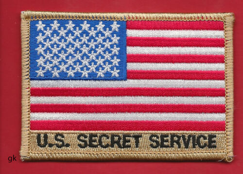 US USSS SECRET SERVICE FLAG SHOULDER PATCH  tan