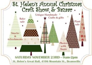 Christmas Craft Show and Bazaar—St Helens, Beamsville
