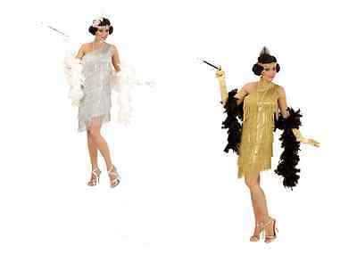 WIM 73551 20er Jahre Charleston Gold Flapper Show Girl  Fasching Damen Kostüm