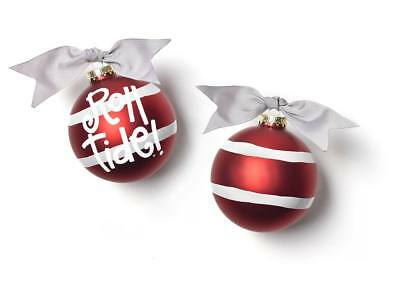 University of Alabama Roll Tide Stripe Coton Colors Christmas Ornament - Roll Tide Colors