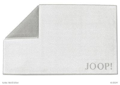 Joop! Badematte Duschvorleger Badvorleger 1600-067 Weiß Silber 50x80 cm
