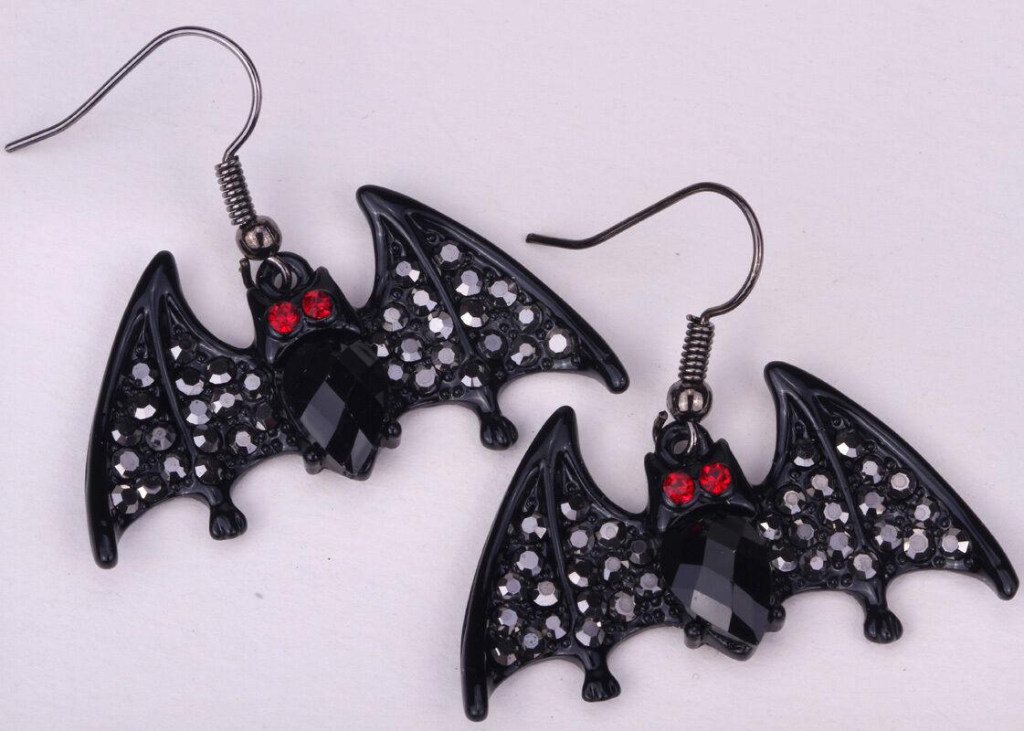 Bat dangle earrings halloween party jewelry gifts for women