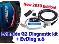 Evinrude Outboard Motor Computer G2 Diagnostic Kit + EV Diag V.6  Pt # 5011567