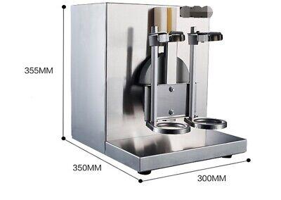 Commercial Double Head Stainless Steel Milk Shake Machine Milk Foam Maker 220v