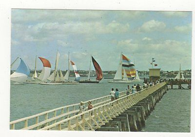 A Class Keelers Waitemata Harbour Auckland 1972 Plain Back Card New Zealand 582a