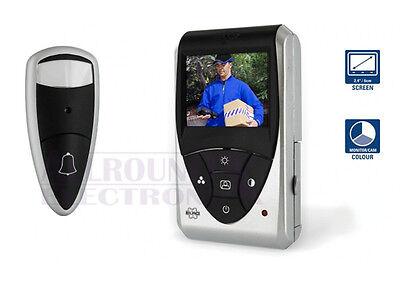 "ELRO Smartwares Video Türspion Kamera Katzenauge VD24 2,4"" Monitor AUSVERKAUF"