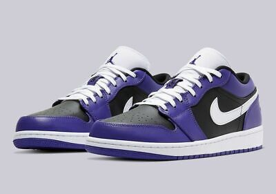 "Men's Air Jordan 1 Low ""Court Purple"". Style: 553558-501."