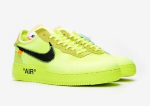 Off-White Air Force 1 in Volt US9.5