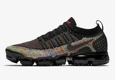 0edca25c04276 Nike MEN S Air Vapormax Flyknit 2 Black Racer Pink SZ 9.5 BRAND NEW MULTI  COLOR