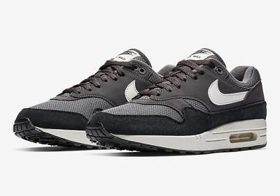 - NIKE AIR MAX 1 AH8145 012 THUNDER GREY/SAIL WHITE/BLACK - SUEDE/LEATHER/MESH