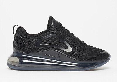 Nike Air Max 720 TRIPLE BLACK MESH ALL BLACKOUT AO2924-007 Men's Running Shoes