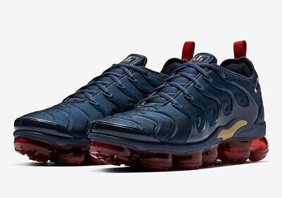 "separation shoes 1f678 1d7fd Nike Air Vapormax Plus ""Olympic"" Midnight Navy Gold 924453-405 Men Sizes  7-13"