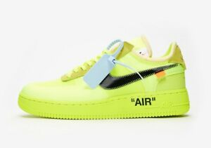 VOLT OFF WHITE NIKE AIR FORCE 1