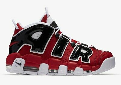 Nike Air More Uptempo '96 Hoops Pack Bulls Red White Black 921948 600 Size 10