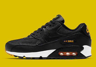 promo code 44f79 90293 New Men s Nike Air Max 90 Essential Shoes (AJ1285-022) Black     Yellow-White Ebay.com ...