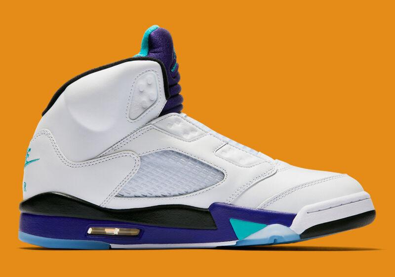 e15e9ee3624 ... Nike Air Jordan 5 V Retro NRG sz 12.5 Fresh Prince White Grape Teal  AV3919- ...