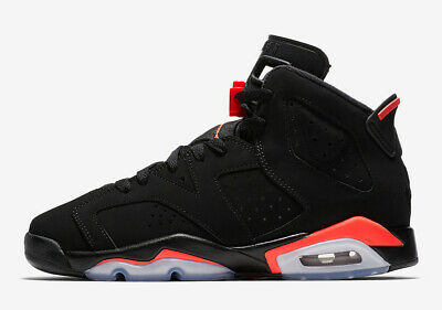 NEW Air Jordan 6 VI Retro GS Sz 6Y Black Infrared Big Kids Youth OG 384665-060