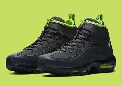 Nike Air Max 95 Sneakerboot Anthracite/Volt/Dark Grey Size 6 Neon 806809 003