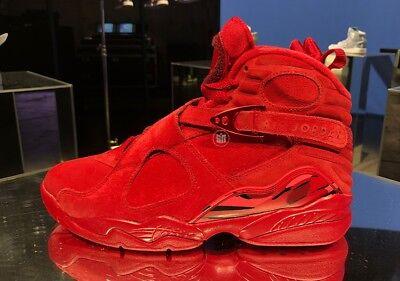 d6e43daa9782c4 Nike Air Jordan 8 Valentine Day Gym Red Retro VIII AQ2449-614 Womens 9.5  Mens 8