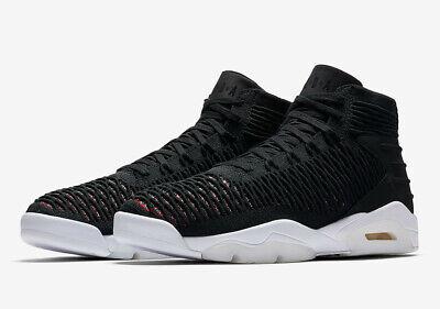 Jordan 11.5 Men Shoes (Men's Nike® Jordan Flyknit Elevation 23 Black/Black University Red Shoes Sz 11.5 )