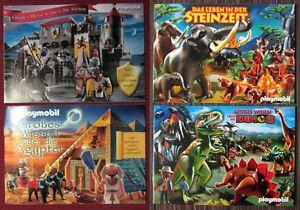 4 x PLAYMOBIL Sonderheft. Prospekt: Steinzeit und Dinos, Ritter und Ägypter