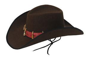 FANCY-DRESS-BROWN-COWBOY-HAT-WITH-TEETH-CROCODILE-AUSTRALIAN-ADULT-SIZE