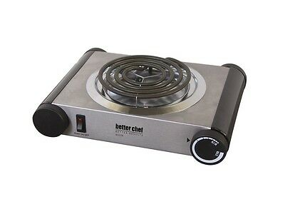 Better Chef 1000W Stainless Steel  Electric Single Burner Hot Plate Buffet (Best Single Burner Electric Stove)