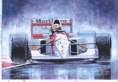 Ayrton Senna 1992 art print
