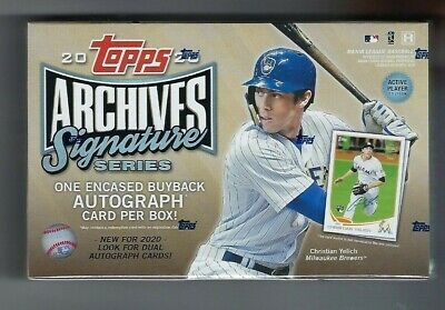 2020 Topps Archives Signature Series Baseball Active Player Edition box (Signature Series)