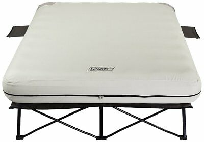 4d Pump Queen - Coleman Portable Queen Airbed Folding Cot Side Tables 4D Battery Pump Outdoors