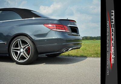 CUP Diffusor Seiten Ansatz SET für Mercedes E-Klasse W212 Facelift Flap Heck AMG