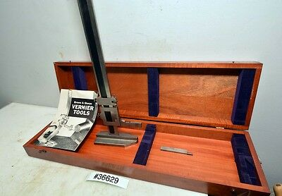 Brown And Sharpe 585 Vernier Height Gage 19 Inch Inv.36629